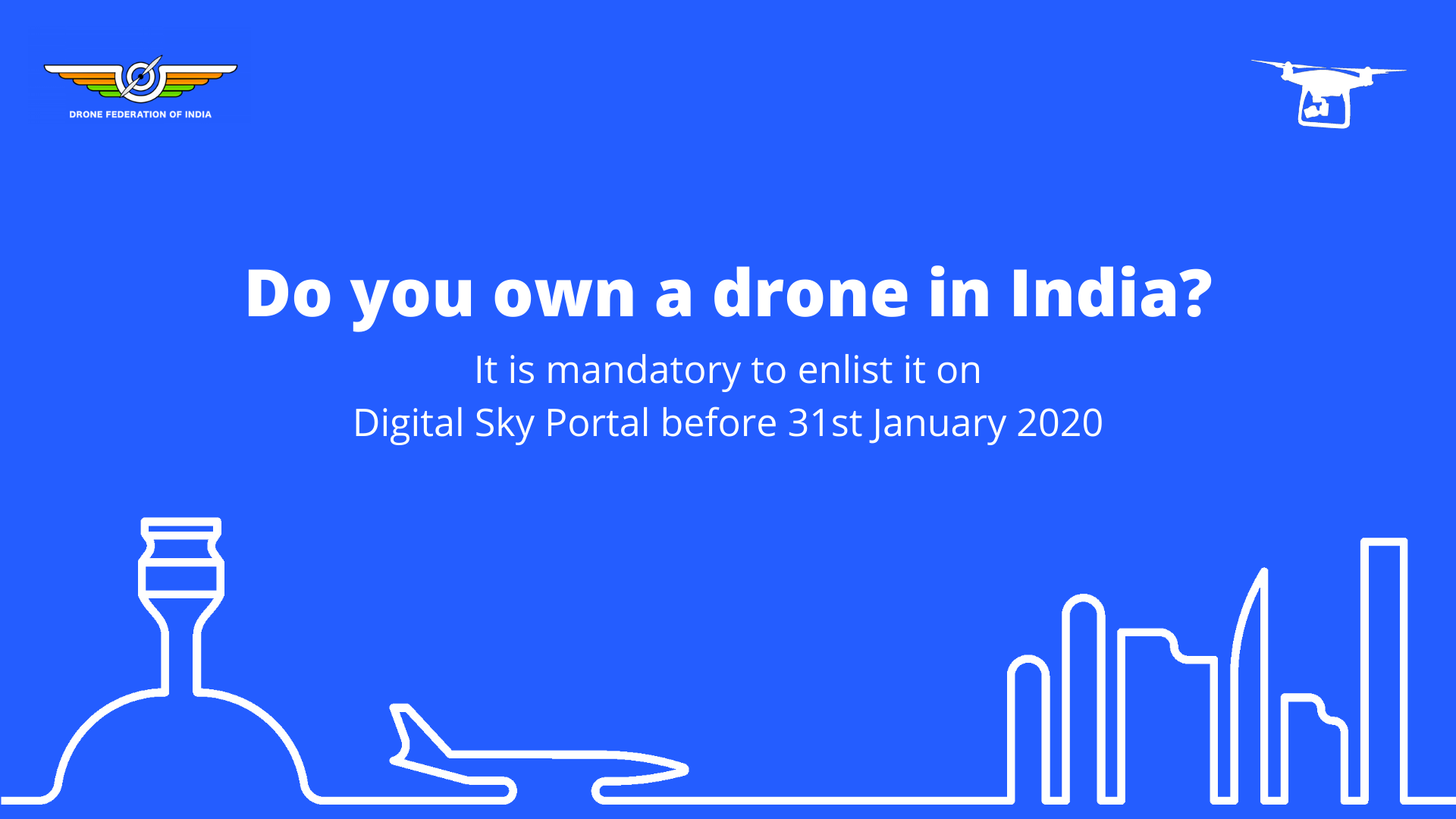 Enlist your drone on the Digital Sky Portal